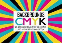 20 Cmyk Backgrounds JPG High Res