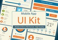 Kit de interface do usuário PSD - Mobile App