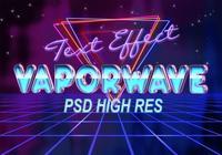Efecto de texto de la onda de vapor PSD