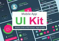 Kit d'interface utilisateur PSD - Application mobile