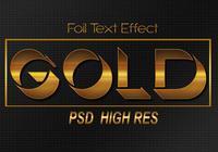 Efeito de texto de folha de ouro PSD