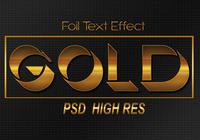 Efecto de texto de hoja de oro PSD