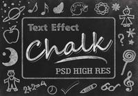 Chalk Text Effect PSD