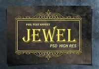 Gyllene folie Text Effect PSD