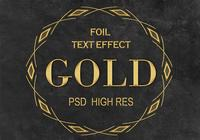 Golden Foil Text Effect PSD