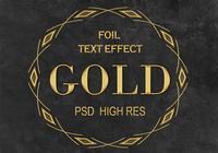 Golden Foil Text Effect PSD