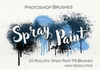 20 Spray Paint PS Brushes abr.