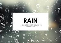 Rain Photoshop borstar