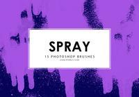 Pincéis de Photoshop spray