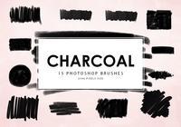 Pinceles de Photoshop de carbón
