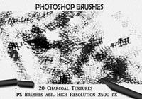 20 Charcoal Texture PS Brushes abr.