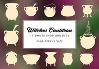 Witches Cauldron Brushes