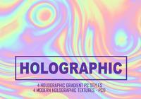4 arquivo PSD de gradiente holográfico completo