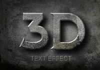 Efeitos de texto 3D PSD
