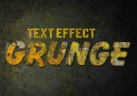 Grunge Text Effects PSD