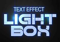 ljusbox text effekter psd