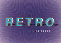 Efeitos de texto retrô PSD