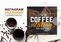 Instagram Sale Banner PSD