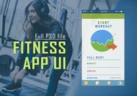 Aplicación de fitness UI PSD