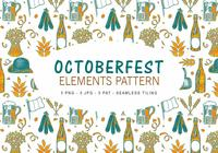 Pattern d'éléments du Octoberfest