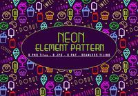 Patrón de elementos de neón