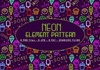 Neon-Elemente-Muster