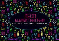 Neon elementen patroon