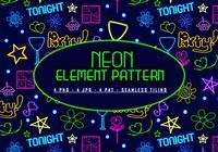 Neon-element-pattern