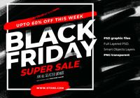 Black Friday Sale And Advertising Instagram Template