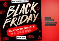 Black Friday E-commerce Instagram Post Flyers Template.
