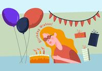 Birthday Party Elements Illustration