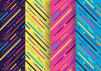 Neon Light Particles Stripes Seamless Pattern Design