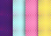 Neon Light Particles Seamless Pattern Design