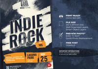 Plantilla de volante - festival de música rock indie
