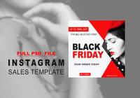 Black Friday Instagram Sale Template PSD