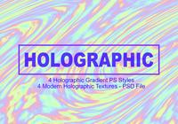 4 Holographic Gradient PS Styles - Full PSD File