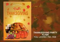 Thanksgiving Flyer PSD