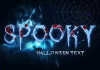 Gruseliger Halloween-Text PSD
