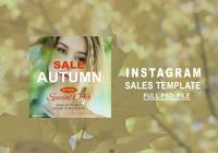 Autumn Instagram Sale Template PSD