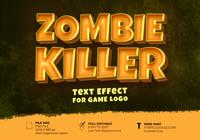 Zombie Killer Game logo text effekt