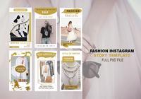 Modèle d'histoire de mode Instagram PSD
