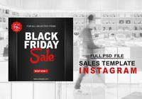 Black Friday Instagram Verkaufsvorlage PSD