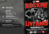 Live Band Flyer-sjabloon