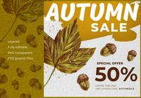 Autumn Sale Instagram Banner Vorlage