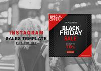 Modèle de vente Instagram Black Friday PSD