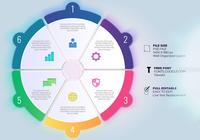 Business Process Timeline Infographics Med Six Options Circles Templates
