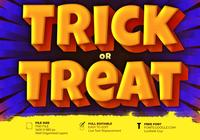 Effet de lettrage Halloween Trick Or Treat