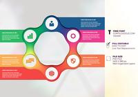 Sieben Optionen Infographic Structure Chart Presentation Design Templates