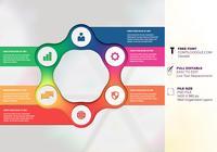 Sieben Optionen Infographic Structure Chart Presentation Design Templates
