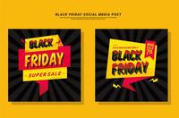 Black Friday Social Media Post vector